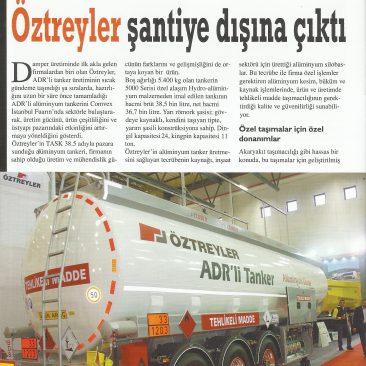 ÖZTREYLER Üstyapı Dergisinde ADR li Tankerini Tanıttı